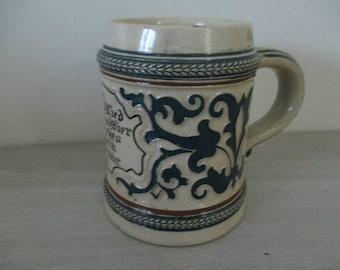 Vintage German Beer Stein Mug