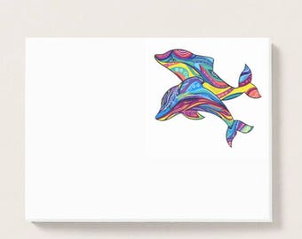 Psychedelic Dolphins Pad of Post-it® Notes