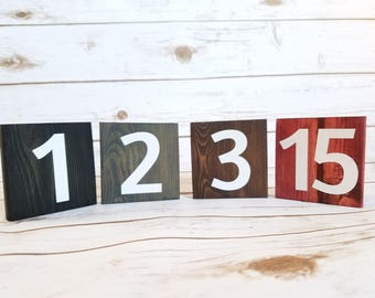 Wedding Table Numbers, Wedding Reception Decor, Events, Rustic Table Numbers, Wooden Table Numbers, One Sided Table Numbers, Wedding Decors