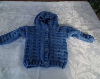 Baby Blue hooded jacket size 12 months