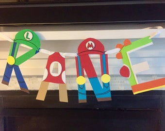 Mario Brothers Name Banner
