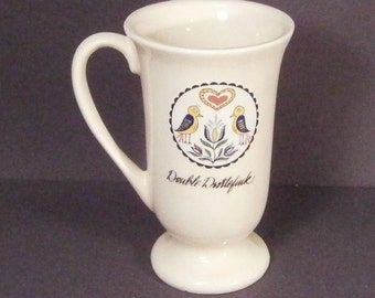 Pennsylvania Dutch German Hex Sign Mug Double Distlefink.
