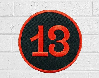 "Lucky Number Thirteen Good luck Patch - Animal Patch - Iron On Patches - Patches for Jackets, Jeans , Cap - Cool Badge Size 3"" (W) x 3"" (H)"