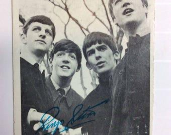 Vintage 60's Beatles Ringo Starr Black & White Photo Card #13 Series of 60 USA