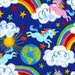 13 Yards in Stock - Timeless Treasures - Rainbows and Unicorns from the collection Crayon Party by Gail Cadden - 100% Cotton