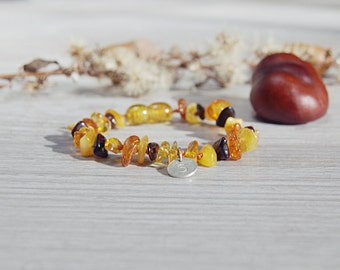 Genuine Baltic Amber Baby Bracelet Personalized