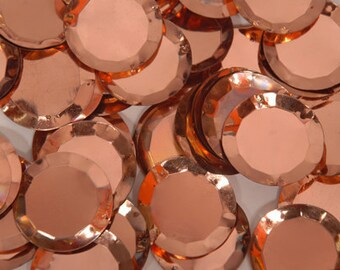 25 pcs 3D sequins.......copper circle/ KBRS023