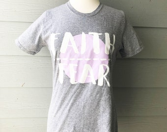 Faith Over Fear T-Shirt || Thoughtful Threads Tees || Inspirational T-Shirt || Christian T-Shirt