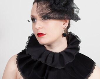 Lace Rose Hat, Gothic, wedding