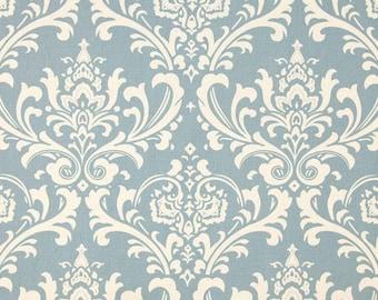 RECENTLY REDUCED!!  Premier Prints Ozborne Village Blue Natural Damask Home Decorating Fabric