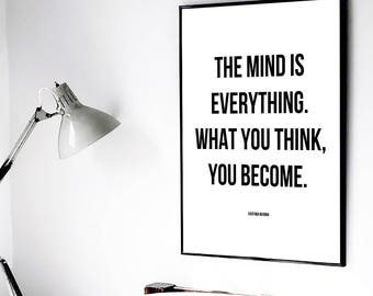 Motivational Buddha Quote, Printable Quote, Motivational Quote, Buddha Quote, Motivational Saying, Buddha Printable, The Mind is Everything