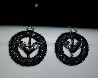 Crochet jewelry - Hook earrings