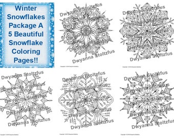Winter Snowflakes Package A