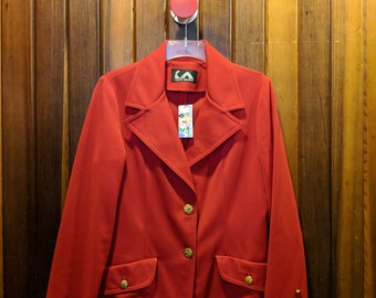 1970S // 9 TO 5 EAGLES // Vintage Jack Winter Red Blazer