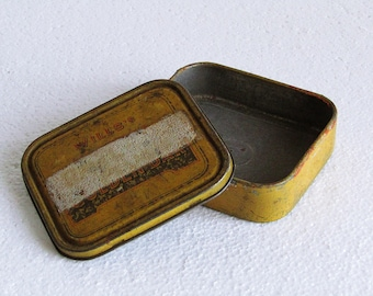 Vintage Wills's Cut Golden Bar Tobacco Tin, Mid Century Wills Imperial Tobacco Company, Retro English Collectible Tobacco Tin - England 50s