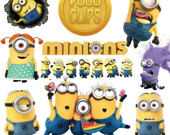 34 High quality Minion - PNG Instant Download