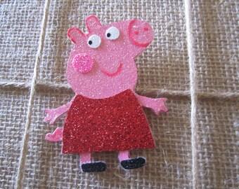 Peppa Pig headband or Clip, Peppa Pig Alligator clip, Peppa Pig, Alligator Clip, Photo prop, Girls Hair clip, Peppa Pig Hair Clip.