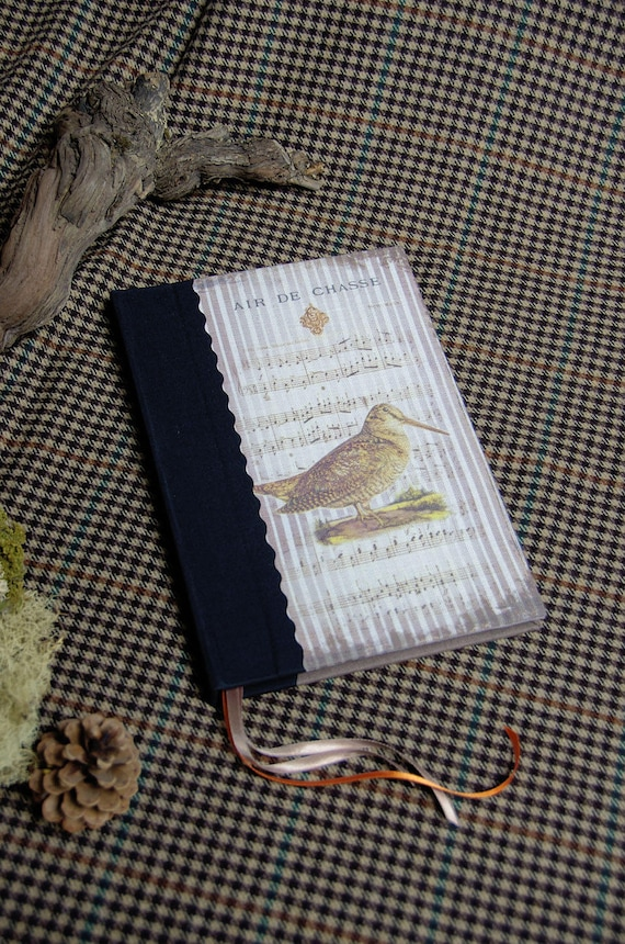 Hunting venery book woodcock very nice journal write in French or blank pages vintage pictures personnalisé mothers' Day