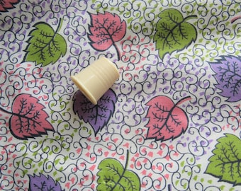 pink, green and purple vintage cotton fabric pieces