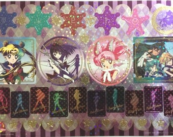 Sailor Moon Stickers - 20th Anniversary Shiny Stickers in Cardboard Holder - Type 3 Cool - Reference A4905-06A5275A6094A6424A6487