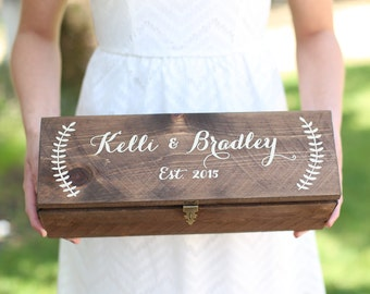 Personalized Wine Box Custom Keepsake Time Capsule Wedding Gift (Item Number MHD100008)