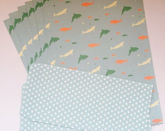 Set paper and matching envelopes