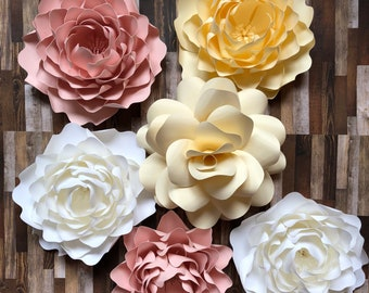 Paper flower backdrop, Nursery paper Flowers,  flowers for first birthday, Cake smash photo pro