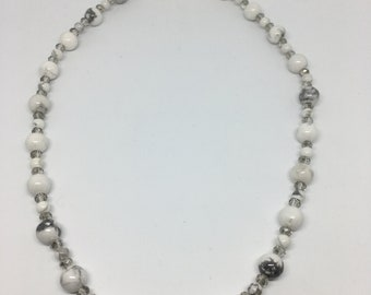 18 Inch Howlite Necklace