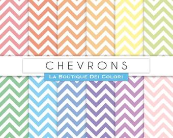 Chevron digital paper, Pastel Chevron digital papers. Chevron patterns pastel vintage backgrounds Download Commercial Use