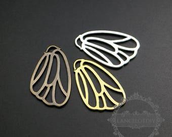 6pcs 16x26mm silver,gold,bronze color  filigree butterfly wing DIY fashion women pendant charm 1850301