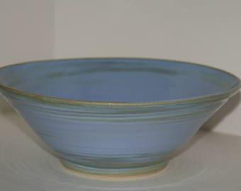 Large handmade pottery bowl. Large ceramic bowl.