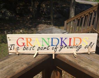 Grandkids Picture Pallet sign
