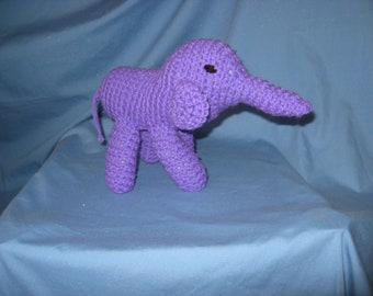 Purple Elephant New USA crochet/knit baby toy