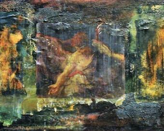 Faith-Save Us/Mixed Media Painting