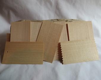 """10 Maple Veneer Wooden Cards 3 1/2"""" x 2"""", Maple, Veneer, Wooden, Wood, Cards"""