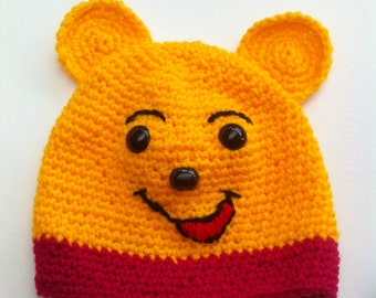 Well known bear crocheted child Hat