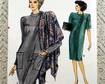 Vogue 7092, Misses' Easy Dress Pattern, Loose-fitting Dress Pattern, Half-Size Dress Pattern, Misses' Size 20-1/2, 22-1/2, 24-1/2, Uncut