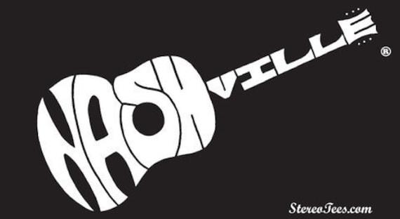 Original nashville guitar bumper sticker