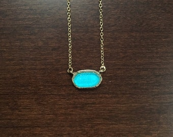turquoise necklace, turquoise jewelry, turquoise pendant, oval necklace, oval pendant, turquoise stone, turquoise oval necklace, necklace