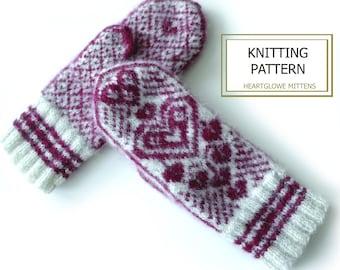 Knitting pattern -HeartGlow Mittens