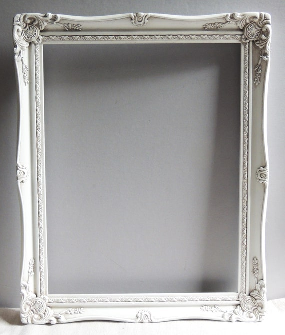 14 x 18 White Picture Frames Vintage Picture Frame. White