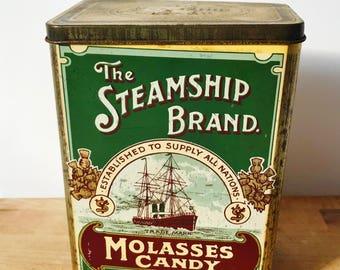 Vintage Molasses Tin