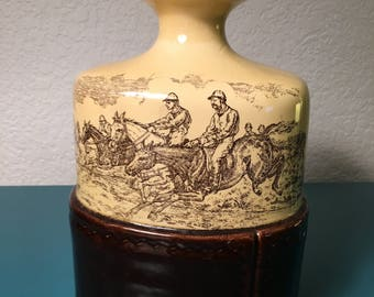Vintage brown/tan whiskey container