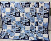 University of North Carolina Baby Quilt, Handmade Baby Quilt, Baby Gift, Newborn Gift, Baby Shower Gift, Modern Quilt, Gender Neutral Gift