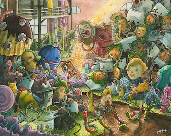 Charlie and the Chocolate Factory - Original Watercolor