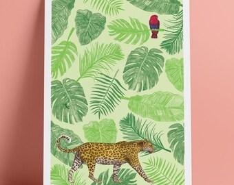 A4 Jungle Art Print