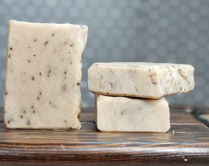 Chamomint Tea Soap (Chamomile Peppermint) -- All Natural Soap, Handmade Soap, Chamomile, Peppermint, Hot Process, Vegan Soap, Free Shipping