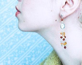 Carnelian Earrings, Carnelian Jewelry, Gemstone Earrings, Orange Earrings, Handmade Earrings, Long Earrings, Dangle Earrings, Gifts Ideas