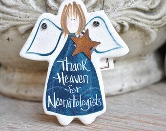 Neonatologist Gift Thank You Salt Dough Angel Ornament