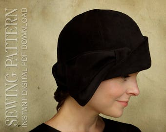SEWING PATTERN - Daryn, 1920s Twenties Cloche Hat for Child or Adult